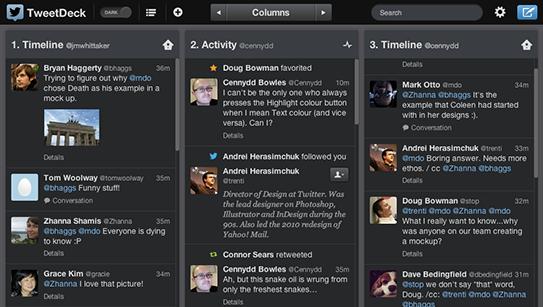 Tweetdeck for twitter