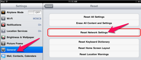 ipad-reset-network-setting